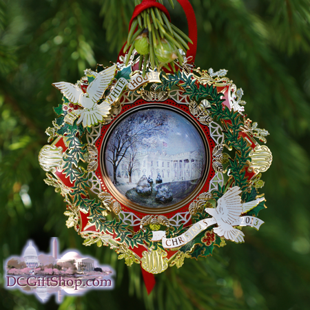 2013 White House Woodrow Wilson Christmas Ornament