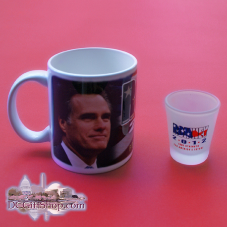 Gifts - Presidential Poll - Romney Coffee Mug and Shot Glass