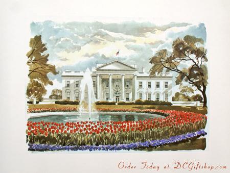 Print - The White House in Springtime