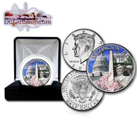 Gifts - Money - Washington DC Commemorative Half Dollar Coin