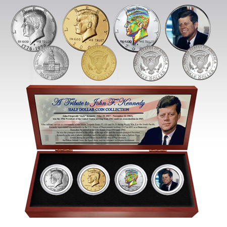 Gifts - Money - JFK Four Half-Dollar Commemorative Coin Set