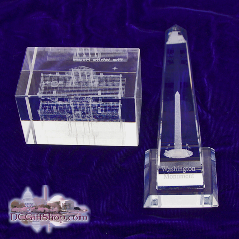 Gifts - Glass Etch - Washington DC Set