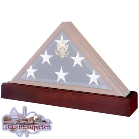 Gifts - Flags and Tapestry - Flag Case w/ Matching Pedestal Urn