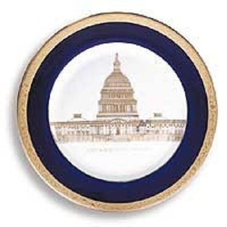 """7 1/2"""" Capitol Society Plate"""