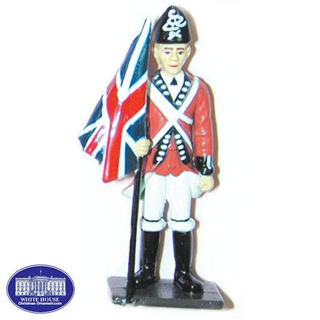 BRITISH FLAGBEARER METAL FIGURINE