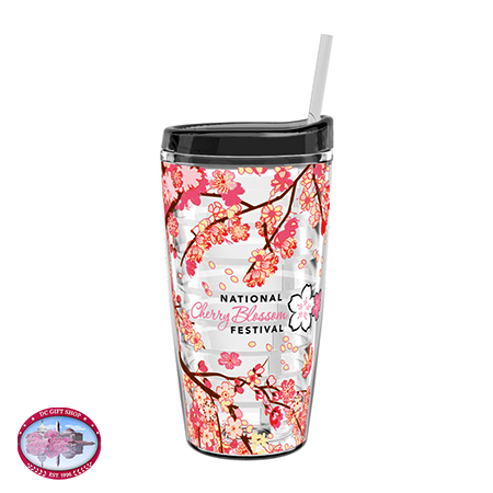 Gifts - Cherry Blossom - Tritan Double Wall Tumbler w/Straw