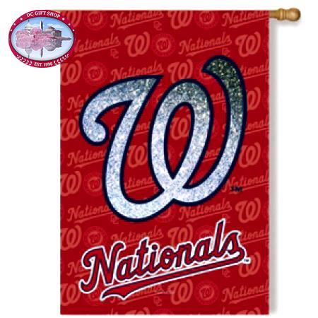 Flag, Suede, Glitter, DS, Reg, Washington Nationals