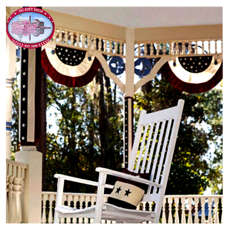 Small Tea Stained Patriotic Bunting