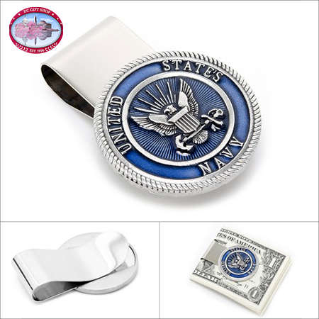Gifts - Pewter U.S. Navy Money Clip