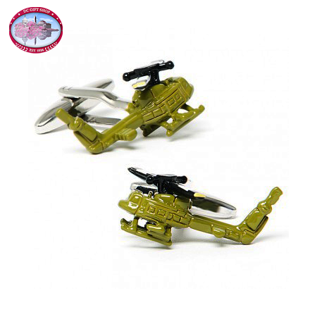 Gifts - Army Green UH-1 Huey Helicopter Cufflinks