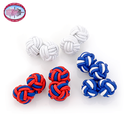 Gifts - Star Spangled Silk Knot Cufflinks