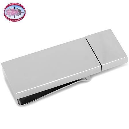 Gifts - Silver 8GB USB Flash Drive Money Clip