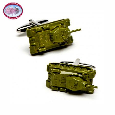 Gifts - Army Green Tank Cufflinks