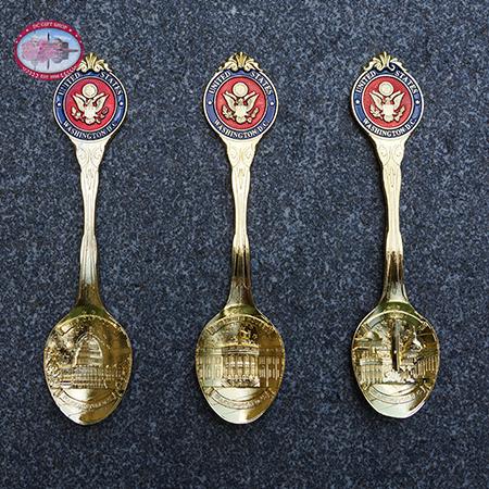 Gold Souvenir Spoon Washington DC