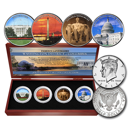 Gifts - Money - Washington DC Landmarks 4 Coin Set