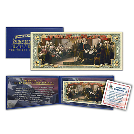 Gifts - Money - Signing of the Declaration of Independence 2 Dollar Bill