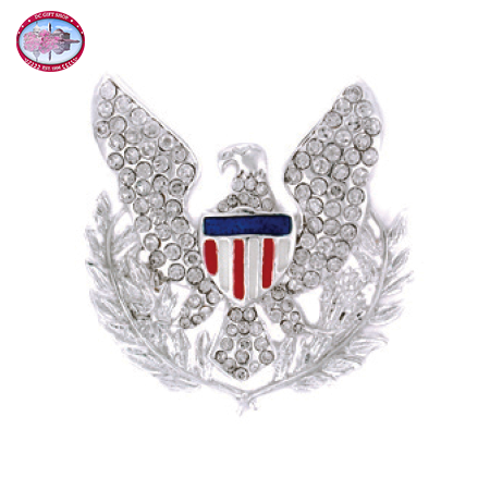 Silver Plated Eagle Brooch