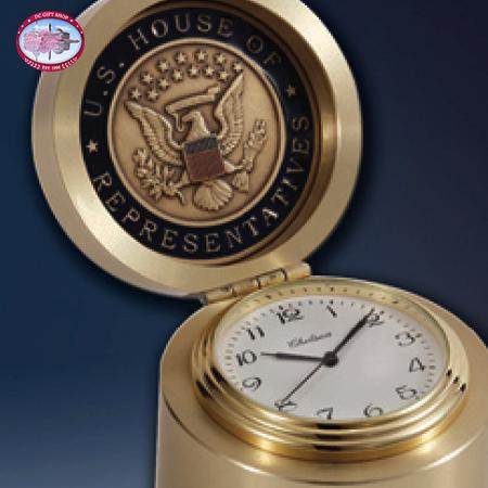 Chelsea Brass Button Clock