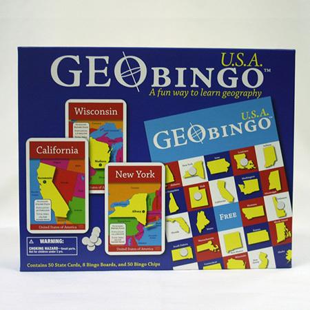 Gifts - Toys - USA Geo Bingo
