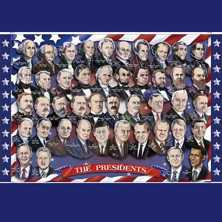 Gifts - Toys - Presidents Floor Puzzle