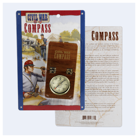 Gifts - Toys - Civil War Wood Compass