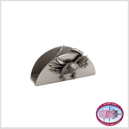 Gifts - Desk Accessories - Pewter Crab Business Card Holder