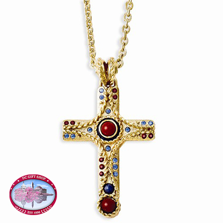 Kennedy Raised Cross 20in W/Extender Necklace