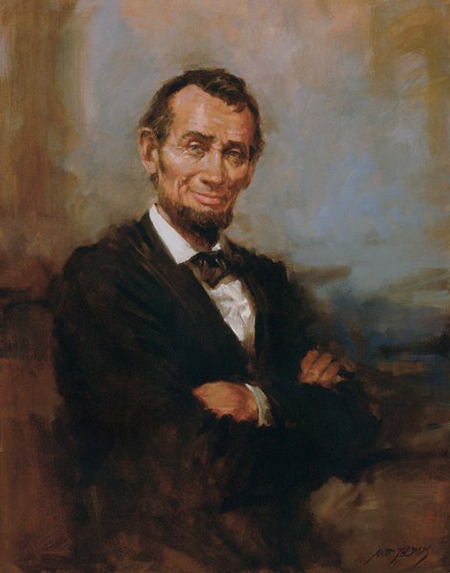 Abe Lincoln Smiling by Andy Thomas