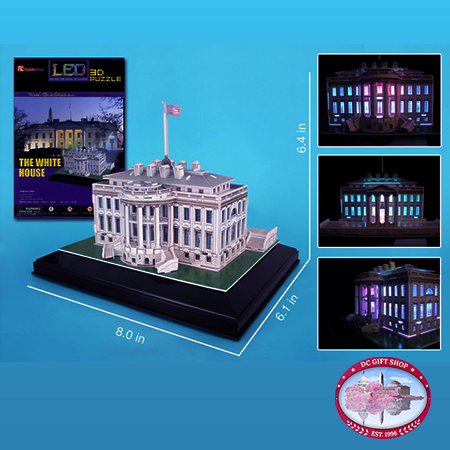 Gifts - Puzzle - White House 3D Puzzle With Base & Lights