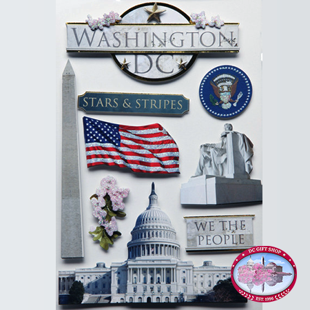 Gifts - Toys -  Washington, DC 3D Sticker Set