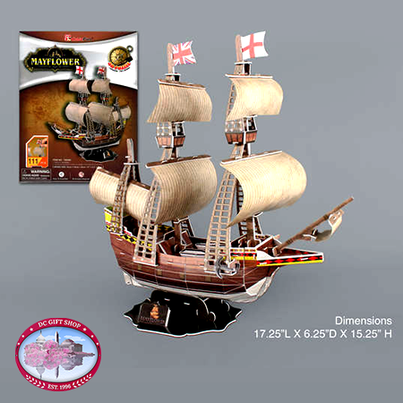 Gifts - Puzzle - Mayflower 3D Puzzle, 111 Pieces