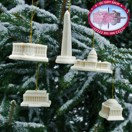 Ornaments - Washington DC Memorial Ornament Set