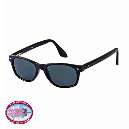 Kennedy Black Color Rhodium-Plated Accent Sunglasses