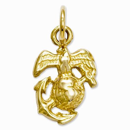 14k Gold U. S. Marine Corps Charm