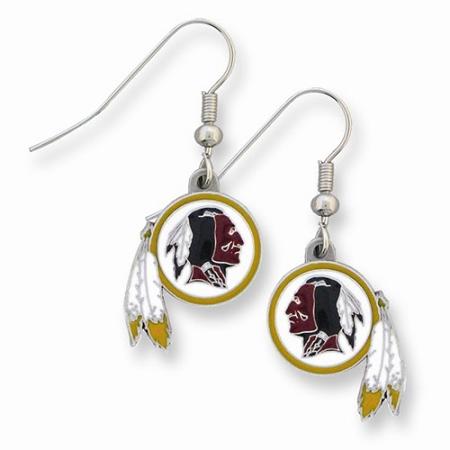 NFL Redskins Enameled Zinc Dangle Earrings