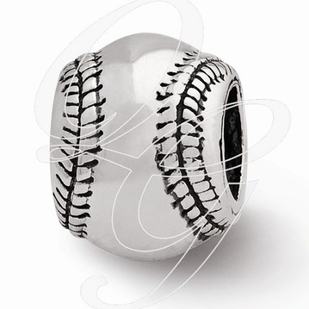 Sterling Silver Reflections Baseball Bead