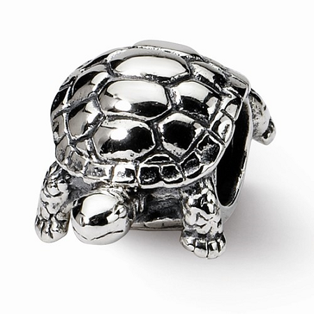 Sterling Silver Reflections Turtle Bead