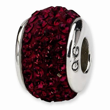 Sterling Silver Reflections Crimson Full Swarovski Elements Bead