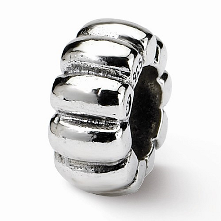 Sterling Silver Reflections Scalloped Spacer Bead