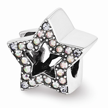 Sterling Silver Reflections Swarovski Star Bead