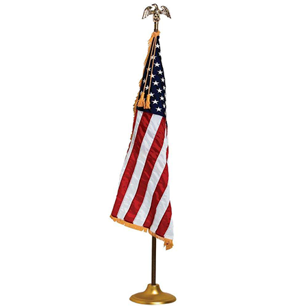 Official Embroidered 3' x 4' Rayon U.S. Display and Parade Flag