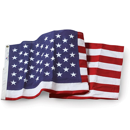 "Official Government Specified U.S. 3'-6"" x 6'-7.75"" Outdoor Nylon Flag"