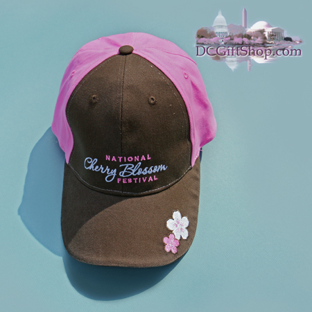 Gifts - Cherry Blossoms - National Cherry Blossom Festival Hat (Brown/Pink)