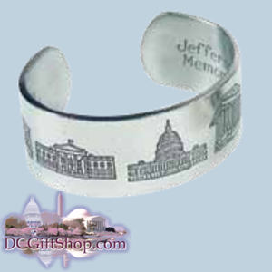 Gifts - Jewelry - Pewter Washington DC Bracelet