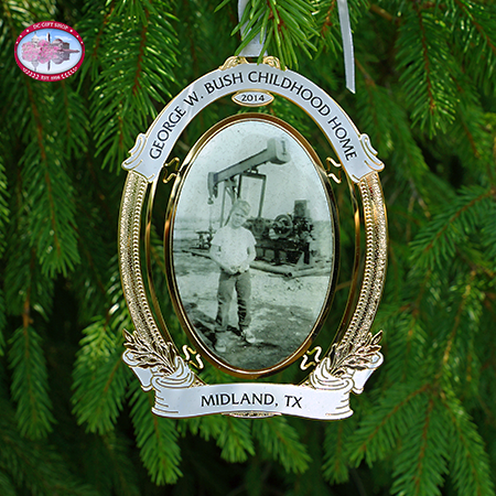 George W Bush Oil Pumpjack Ornament