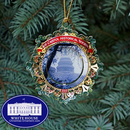 2015 Capitol Snow Scene Ornament
