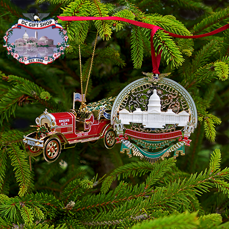 2016 White House and US Capitol Holiday Ornament Set