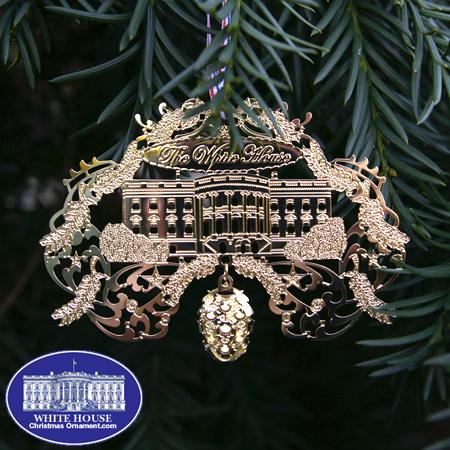 Ornaments - White House Gold Finish
