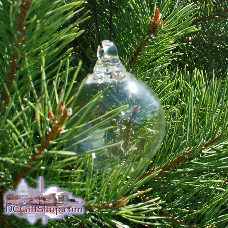 Clear Crystal Glass Ornament Craft - RED