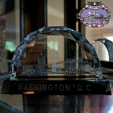Washington DC 3D Laser Glass Landmarks Paperweight